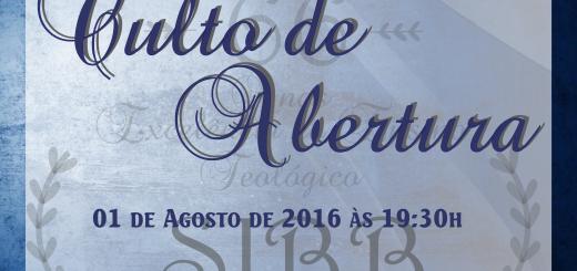 Culto de Abertura SIBB 2016